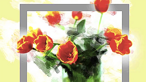 photoViva App draw on picture of flowers